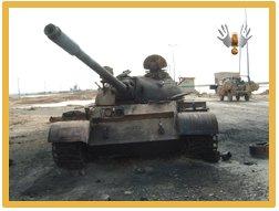 burned out iraqi tank
